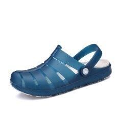 ฮาราจูกุผู้ชายรองเท้าหลุม Baotou รองเท้าแตะ (สีฟ้า) ราคา 494 บาท(-44%)