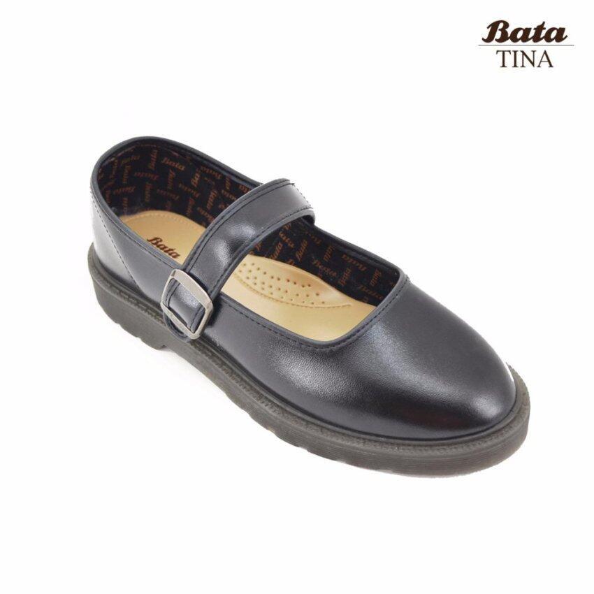 Bata Tina รองเท้านักเรียนผู้หญิง สีดำ รหัส 4416166