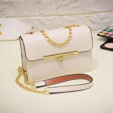 BEST กระเป๋า กระเป๋าสะพาย กระเป๋าสะพายพาดลำตัว Women Shoulder bag - R1115White