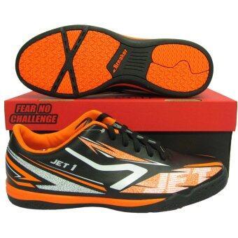 รองเท้ากีฬา รองเท้าฟุตซอล BREAKER BK-1201 JET1 ดำส้ม