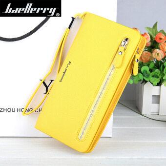 BYT Baellery Long Women Leather Zipper Wallet 201502 ( Yellow )