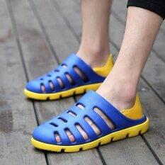 Chaonan เกาหลีชายลื่นลำลองรองเท้าแตะรองเท้า (สีฟ้า) ราคา 500 บาท(-74%)