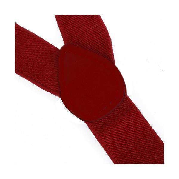 Clip-on Braces Elastic Y-back Suspender 37x1 inch - Red ...