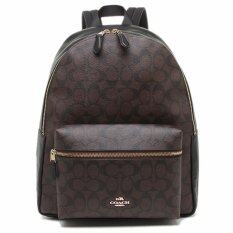 Coach F58314 Charlie Signature PVC Backpack Brown/ Black