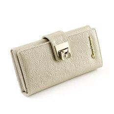 แทงโก้น่ารักหญิง Cooljie สองพับกระเป๋าสตางค์นางสาวกระเป๋าสตางค์ (สีเบจ) ราคา 252 บาท(-41%)