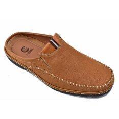 Csb รองเท้าหนังแบบสวมเปิดส้น ผู้ชาย Csb รุ่น Cm433 (สีแทน) ราคา 479 บาท(-52%)