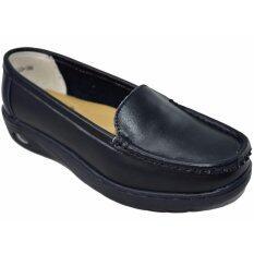 CSB รองเท้าคัทชูหนังผู้หญิง CSB รุ่น FZ633(สีดำล้วน)