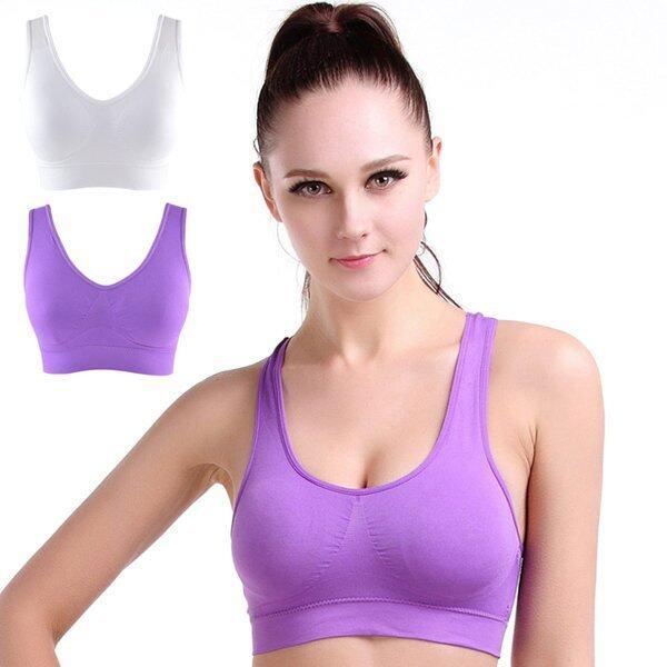 Cyber NEW Women Y Back Basic Sports Yoga Crop Padded Seamless Bra - intl