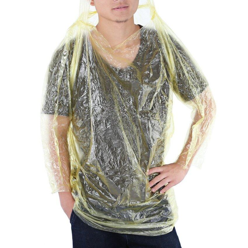 Disposable Portable Outwear Poncho Cape Raincoat Hiking Kit (Yellow) - intl