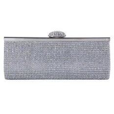 Ecosusi New Sophisticated Crystals Evening Bag Rhinestones Clasp Flap Women Clutch Bags Baguette Wallets Wholesale Purse กระเป๋าสตางค์,กระเป๋าใส่นามบัตร Party (silver) - Intl ราคา 999 บาท(-50%)