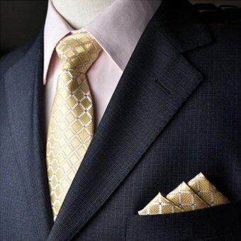 Everland เนคไท & ผ้าเช็ดหน้าสูท Necktie Pocket Handkerchief - รุ่น E101(not defined)