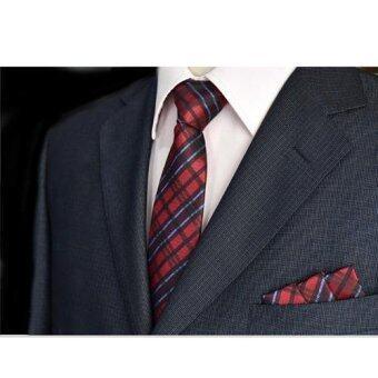 Everland เนคไท & ผ้าเช็ดหน้าสูท Necktie Pocket Handkerchief - รุ่น E302(not defined)