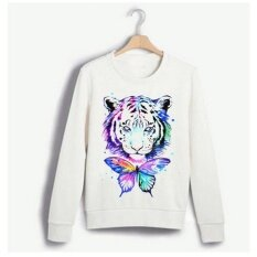 Female White Lady Sweater Color Tiger Head Pattern Printing Long-Sleeved Shirt - Intl ราคา 349 บาท(-50%)