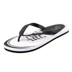 หนึ่งร้อยทาวเวอร์เกาหลีลื่นพลิกกลางแจ้งชายหาดรองเท้า Flip Flops (สีดำและสีขาว) ราคา 444 บาท(-53%)