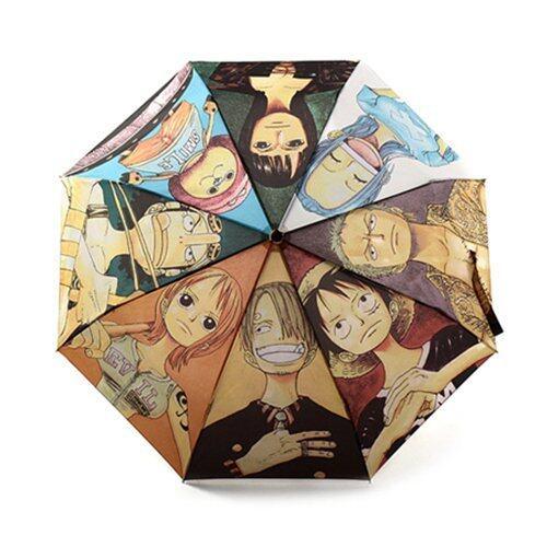 Folding Travel Men Boy ONE PIECE Umbrella New Fashioned Bumbershoot Multi Color - Intl