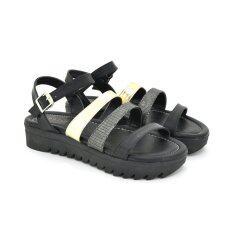 Footin รองเท้าผู้หญิง ส้นแบนแบบรัดส้น LADIES FLATS FASHION สี ดำ รหัส 5960957