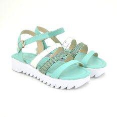 Footin รองเท้าผู้หญิง ส้นแบนแบบรัดส้น LADIES FLATS FASHION สี เขียว รหัส 5967957