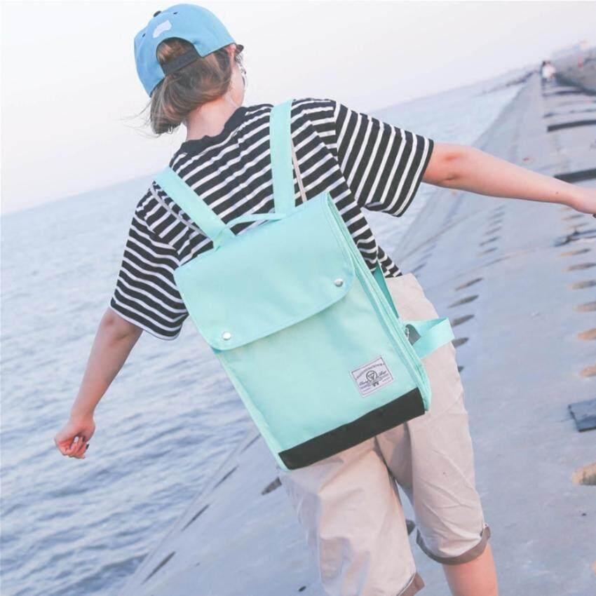 FTshop กระเป๋าเป้ กระเป๋าแฟชั่น กระเป๋าผ้า กระเป๋า กระเป๋าสะพายหลัง กระเป๋าเป้สะพายหลัง กระเป๋าเดินทาง รุ่น 150c - สีเขียว