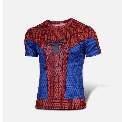 G2G เสื้อยืดแฟชั่น 3D Spider Man T Shirt Men คอกลม แขนสั้น ...
