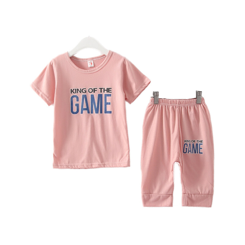 girls clothes children clothing kids sets boy t shirt and short panties (pink) colors LM ...