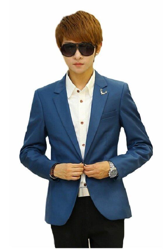 HappyU เสื้อสูทผู้ชาย MB03 ( Dark Blue)