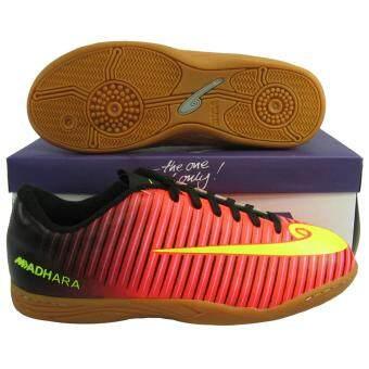 รองเท้ากีฬา รองเท้าฟุตซอล HARA FS-12 แดงเขียวตอง