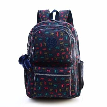 Klpllng Fashion Women's canvas Backpacks Student School Bag(Blend Color) - intl