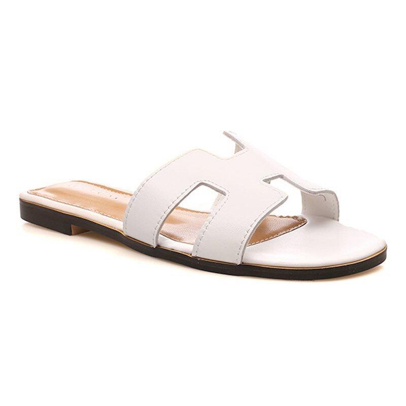 KR0390 รองเท้าแตะ H สีขาว ไซส์ 43