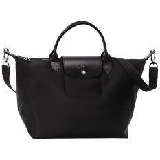 กระเป๋า Longchamp Le Pliage Néo Medium Handbag - Noir