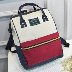 กระเป๋าเป้fashion กระเป๋าสะพายหลัง Backpack No.2016 - red/white