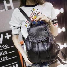 กระเป๋าเป้สะพายหลัง กระเป๋าเป้เกาหลี กระเป๋าสะพายหลังผู้หญิง (สีดำ)VLJ022TH