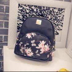 กระเป๋าลายดอกผีเสือสีดำ
