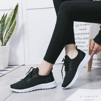Ladies Sweat Breathable Comfortable Wear-resistant Light Sports Shoes - intl