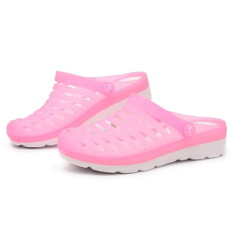 Large Size Beach Shoes Women Sandals Beach Slippers Hole Shoes Women Anti-skid Slippers  ...