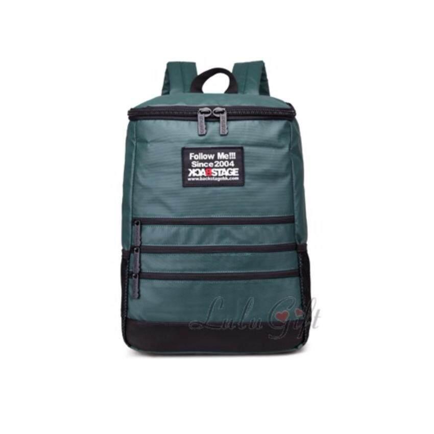 Leisure Backpack Travel Bagกระเป๋าเดินทางท่องเที่ยวเป้สะพายหลัง - Green สีเขียว