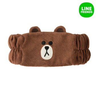 LINE FRIENDS HAIR BAND (for washing face)_BROWN