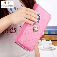 Man Thin New Ms. Kuans Purse Grows A Style The Ling Space Royal Crown Zipper Wrap A Big Chao Female Type Money Clip Vogue Han Ban Ka Wrap A Clutch Zero The Purse Powder Color Royal Crown Style - Intl ราคา 490 บาท(-35%)