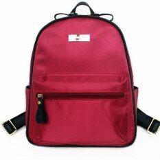 Mango TSAR Fashion Nylon Backpack - Red