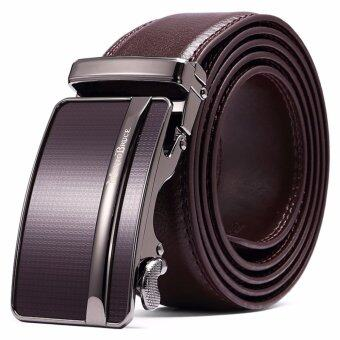 MANTOBRUCE Men's Genuine Cowhide Leather Belt Coffee - intl