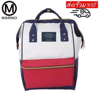 Marino กระเป๋า กระเป๋าเป้ กระเป๋าสะพายหลัง Backpack No.2015 - White Red