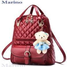 Marino กระเป๋า กระเป๋าสะพาย กระเป๋าเป้สะพายหลัง No.1110 - Red