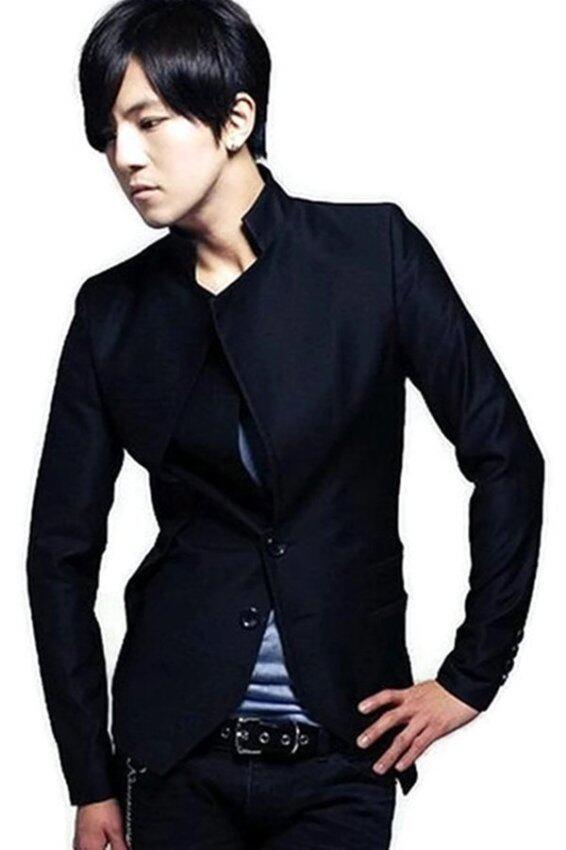 Men Concept เสื้อสูทผู้ชาย แฟชั่นเกาหลี รุ่น IN1244 (สีดำ) ...