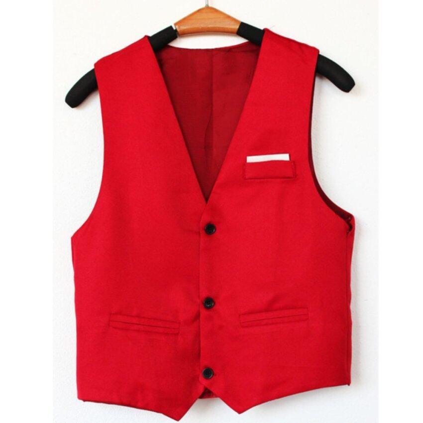Men Concept เสื้อกั๊ก แฟชั่น รุ่น M120 สีแดง ...