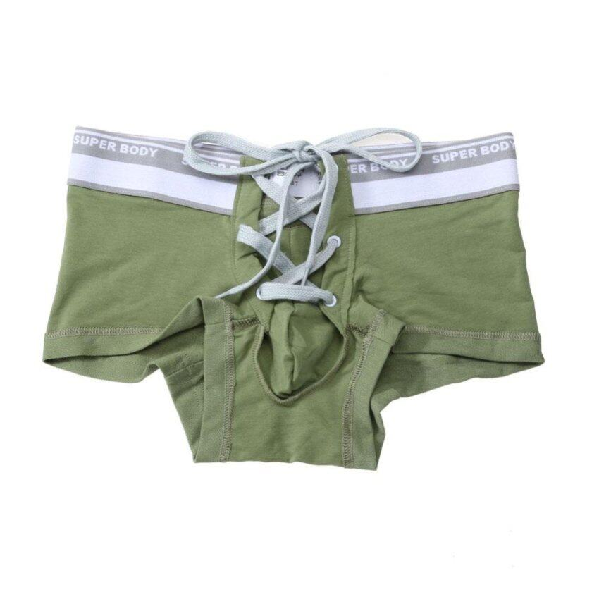 Men Underwear Boxer Shorts Bulge Pouch Underpants (Army Green) - intl ...