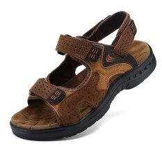Mens Personality Comfortable Non-Slip Leisure Trend Daily Wear-Resistant Sandals - Intl ราคา 946 บาท(-47%)