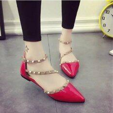 Mod รองเท้าส้นแบน (สีแดง) รุ่น A09