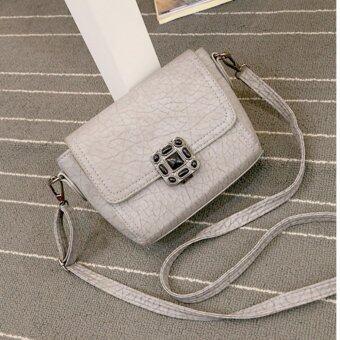 Moniga-Moniga กระเป๋าถือพร้อมสายสะพาย รุ่น Ruby สีเทา