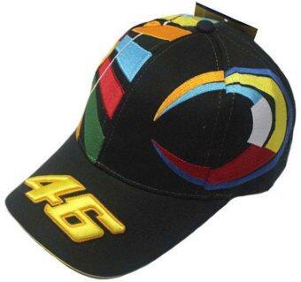 MOTO.GP Valentino Rossi 46 Baseball Hat Peaked Cap Motorcycle Hat (Black)