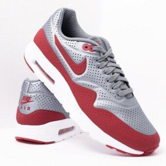 Nike รองเท้า AIR MAX 1 ULTRA MOIRE Metallic Cool Grey/Gym Red-White - 11 US