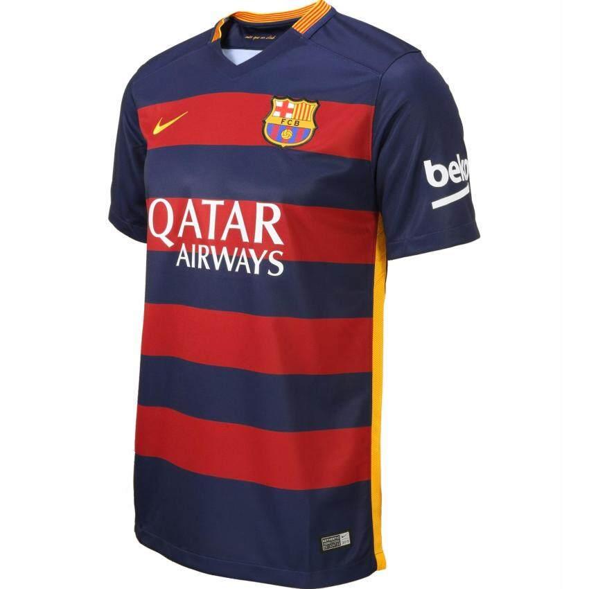 สุดยอด Nike เสื้อฟุตบอล Barcelona 2015/16 Home Jersey 658794 ซื้อเลย